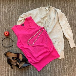 Pink shell tank shirt